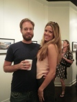 Artist Tim Hussey with accountant/model/rockstar Jen Snider