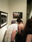 Julio Cotto & Caroline Millard examine a photograph...starring her!