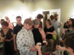 the crowd at Robert Lange Studios