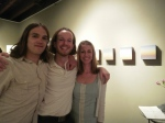 Artist JB Boyd, center, at the opening of his show, LENGTH at RLS