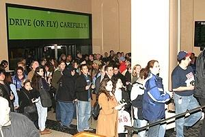 Wicked fans fill the lobby